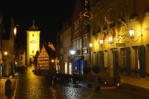 In the evening, you have Rothenburg all to yourself.