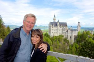 Rick and I enjoy the majestic views onto King Ludwig's Neuschwanstein Castle.