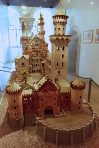 This model shows the original architectural plans for the castle.