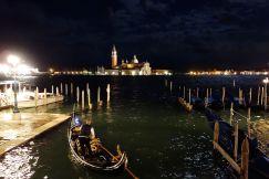 Few gondolieri brave the high water tonight in Venice.