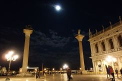 It's a moon like this that helps contribute to the acqua alta of Venice.