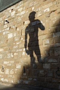 Fake David's shadow.
