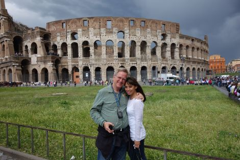 Rick and I always enjoy a visit to the Colosseum.