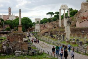 Think of all the history that has happened in just this stretch of the Roman Forum.