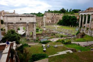 A view of the Roman Forum, 30 feet below current street level.