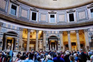 Inside the Pantheon.