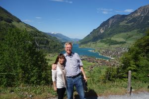 Rick and I take a moment to just enjoy the Swiss scenery.