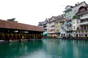 Even on a gloomy day, the town of Thun is a lovely place to visit.