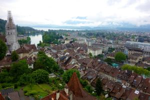 From the top of the 12th-century Thun Castle, the views are quite a sight to behold.