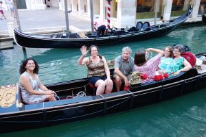 Save some money and share the moment with some new friends by convincing some people to take a gondola ride with you before 7pm.