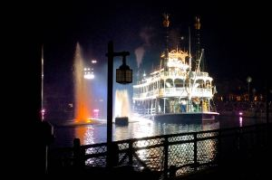 The Mark Twain on the Rivers of America during the finale of Fantasmic.