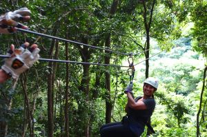 I love this ziplining thing, and I can't wait to do it again!