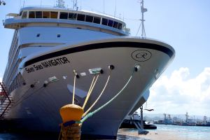 The Regent Seven Seas Navigator: our floating home for 12 days in the Eastern Caribbean.