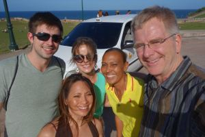 Our great tour guiding cabbie, Ariana, takes us all around her hometown of San Juan.