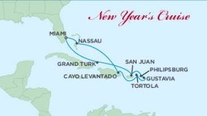 Our eastern Caribbean cruise itinerary.