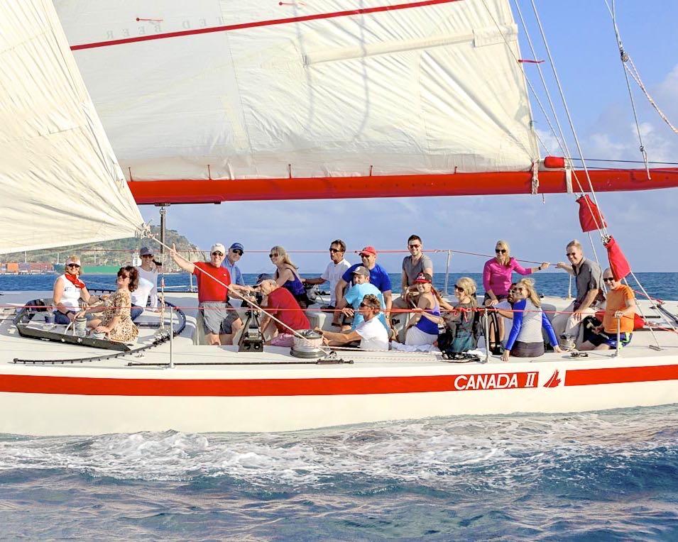 The motley crew of Canada II (photo credit: Lazlo Hevesi)