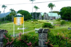 Driving through the countryside of St. Kitts, we encounter an old Anglican church, a reminder of British Colonial influence on the island.