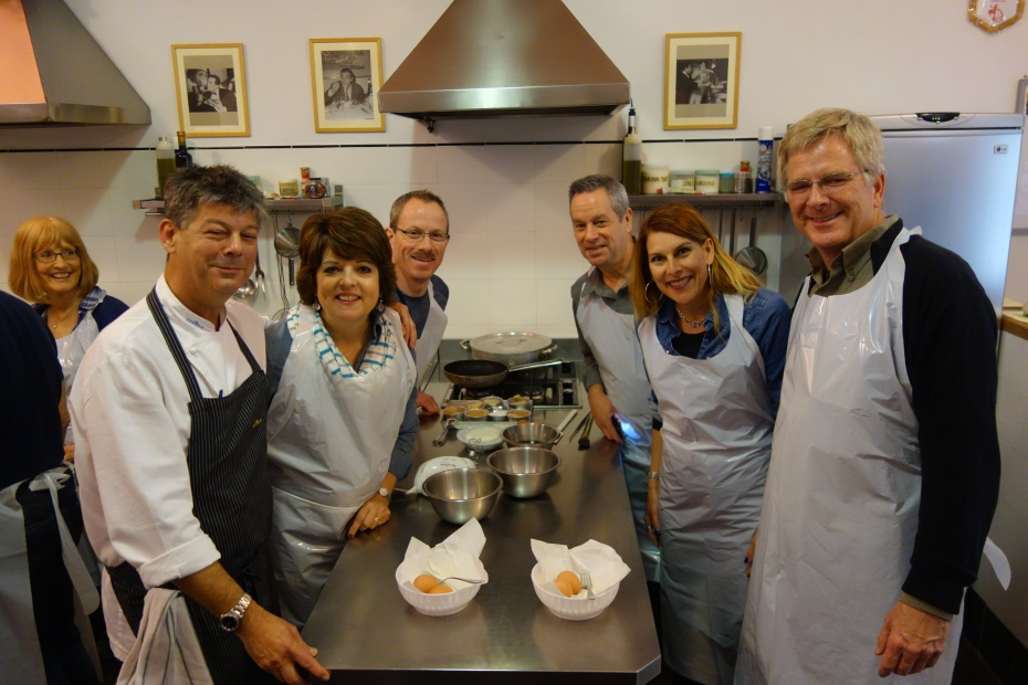 Rick joins our Venice/Florence/Rome tour for our cooking class.