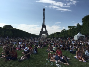 Parisians and tourists alike gather on the Champ de Mars to picnic, be with loved ones, and enjoy the most iconic structure of Paris.