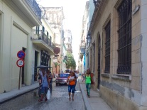 Wandering the streets of Havana Vieja or Old Havana.