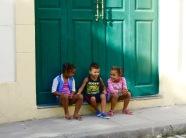 Happy children in Havana.