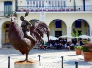 Public art on the Plaza Vieja.