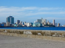 The Malecón is a 5-mile long waterfront roadway that stretches from Old Havana to the Vedado neighborhood (seen here).