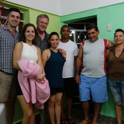 Along with our guide Rey (center), we thoroughly enjoyed the hospitality of our B&B hosts.