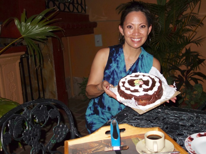 Our Havana B&B host gave me a birthday that we devoured at our Trinidad B&B.