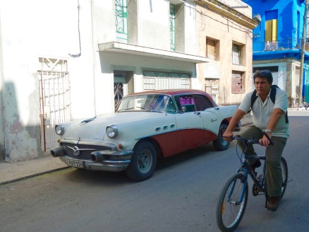 20th-century car. 21st-century bike.