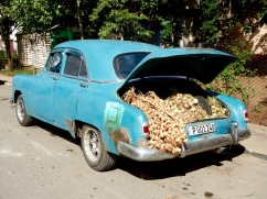 Whether transporting people or produce, Cubans make smart use of the cars they have.