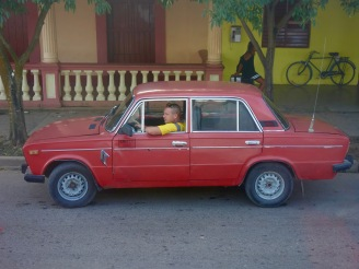 "A Lada gets lots of use as a personal car and as a ""taxi particular"" in Viñales."