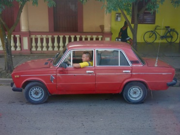 """A Lada gets lots of use as a personal car and as a """"taxi particular"""" in Viñales."""